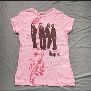 Pink Beatles Band Tee